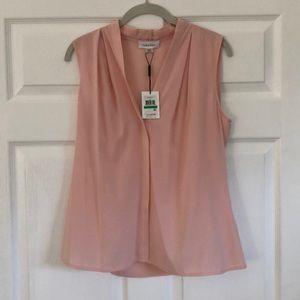 L Calvin Klein sleeveless blouse